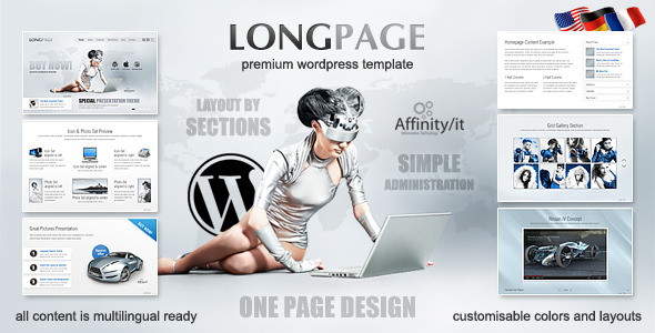 Longpage Product and Service Presentation WP Theme