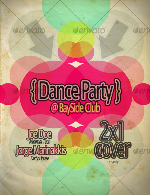 GraphicRiver Retro Dance Party Poster Template 118457