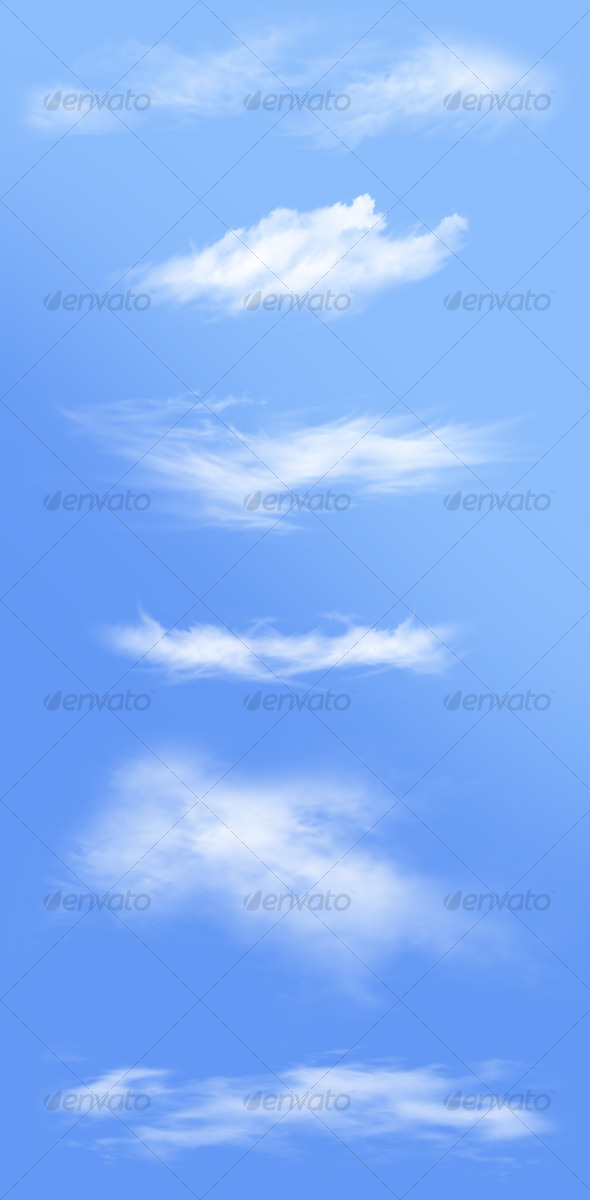 Isolated Clouds V2 - Nature &amp; Animals Isolated Objects