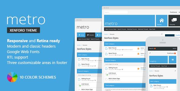 Metro Xenforo Responsive Amp Retina Ready Theme By