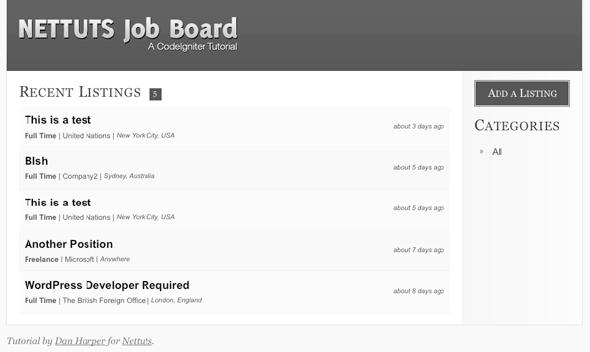 TutsPlus Create a Jobs Board With CodeIgniter 118786