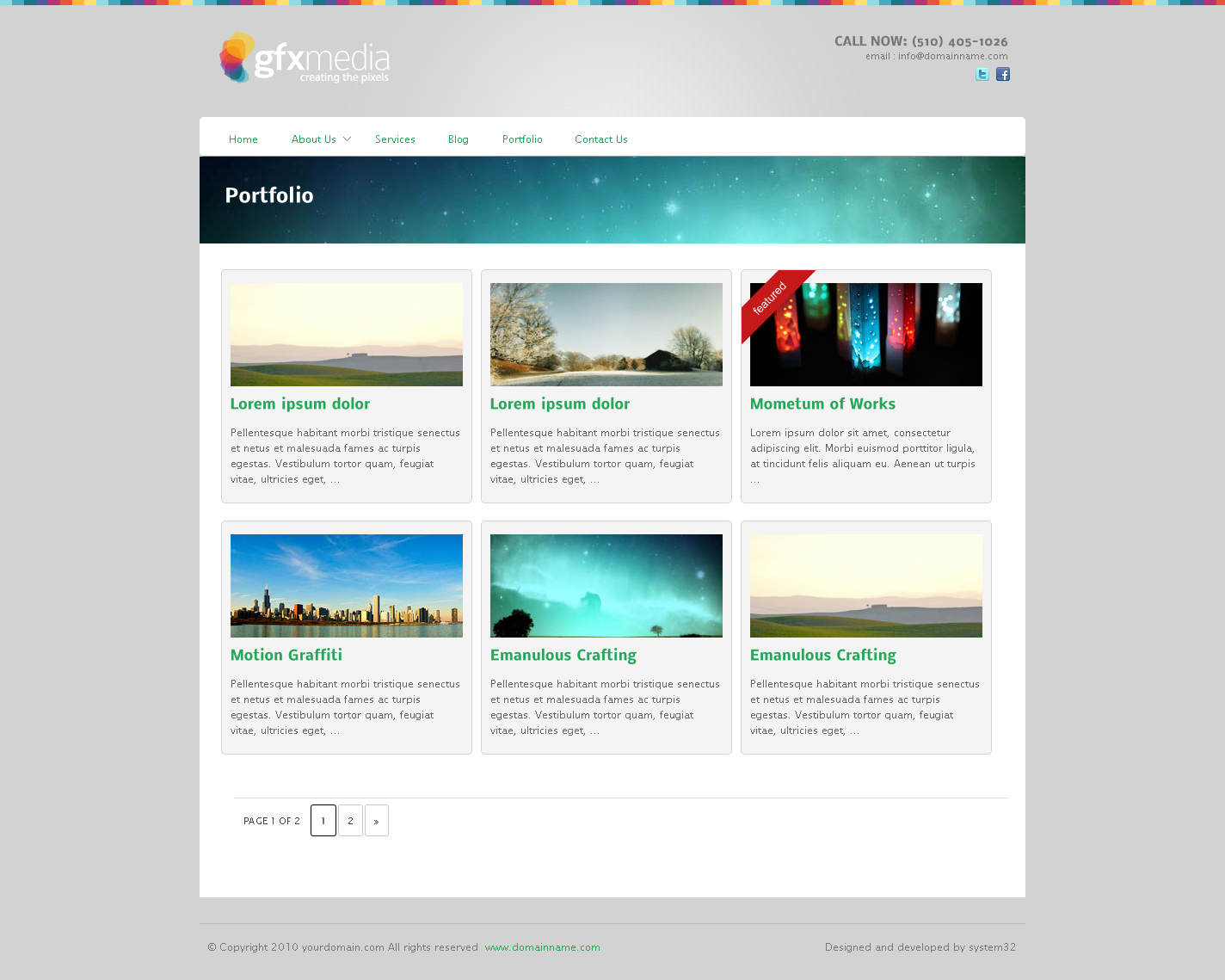 GfxMedia Business & Portfolio Wordpress Theme