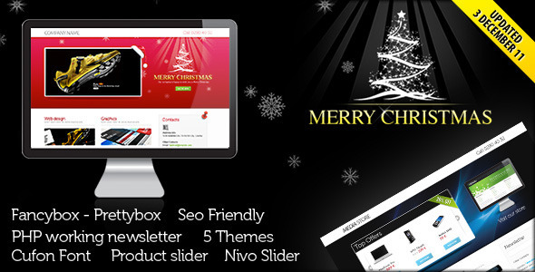 ThemeForest Landing Page for Christmas Offer or Portfolio 141655