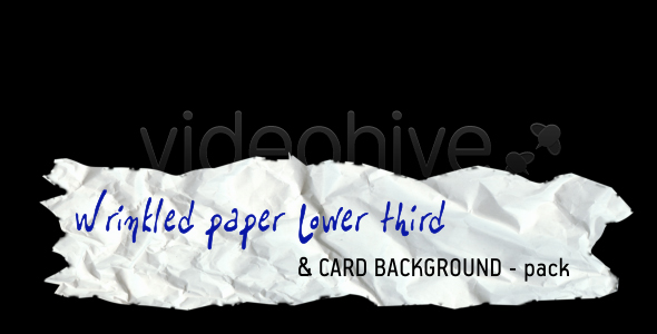 [VideoHive 118927] Wrinkled paper LOWER THIRD & CARD BACKGROUND �Cpack | Motion Graphics