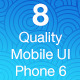 OS8 Quality - Mobile UI Kit-Graphicriver中文最全的素材分享平台