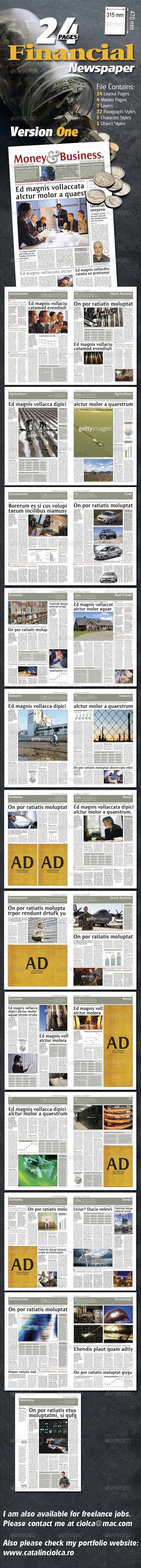 GraphicRiver 24 Pages Financial Newspaper Version One 910903