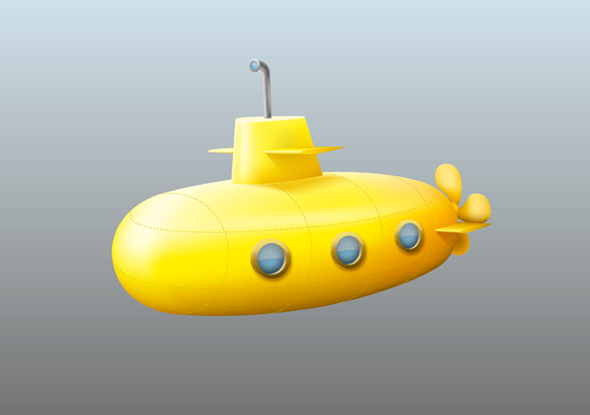 TutsPlus Create a Submarine Icon with Gradient Meshes 119302