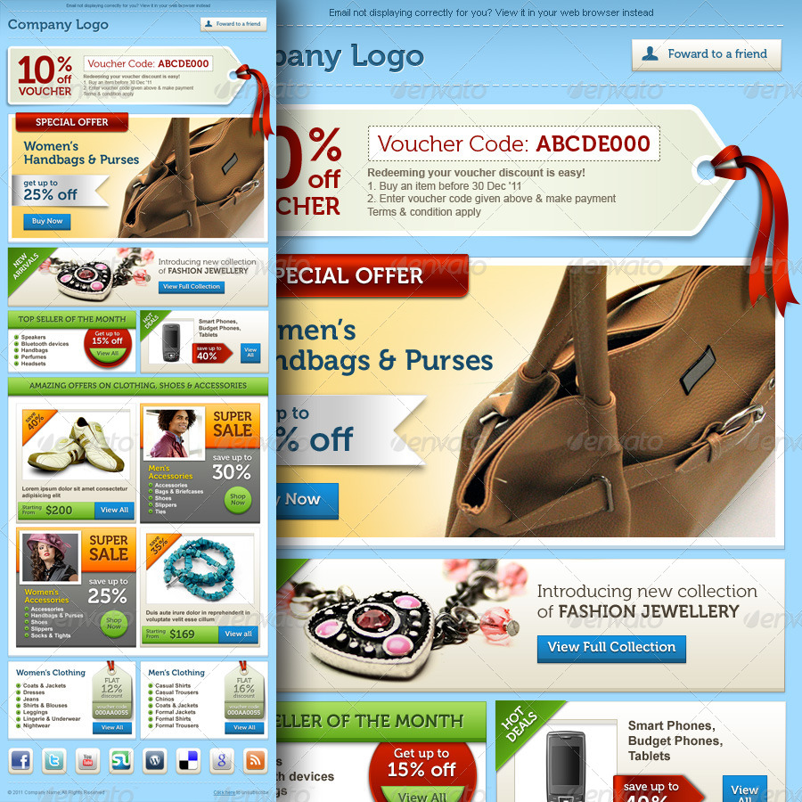 E-commerce Offers Email Template Design Vol.2