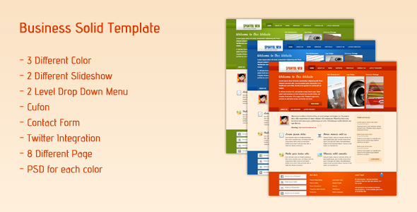 Spanyol - Business Solid Template - Preview