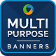 Multi Purpose Banner Set-Graphicriver中文最全的素材分享平台