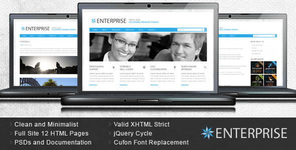 Enterprise - Clean Business HTML Template