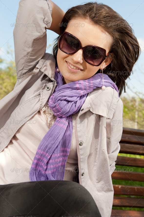 Girl in sunglasses - Stock Photo - Images