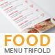 Food Menu Tri Fold Brochure-Graphicriver中文最全的素材分享平台