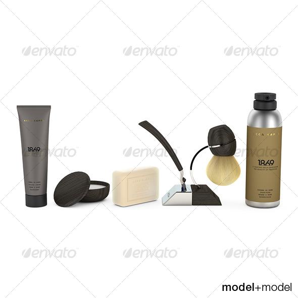 3DOcean Acca Kappa shaving set 119993