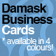 Damask Business Cards - GraphicRiver Item for Sale