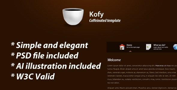 Kofy clean & elegant theme
