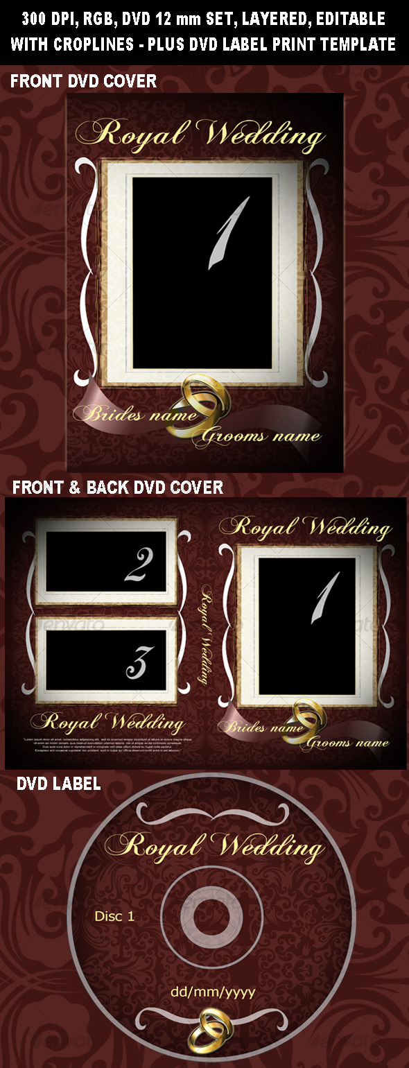 Royal Wedding DVD cover - CD & DVD artwork Print Templates