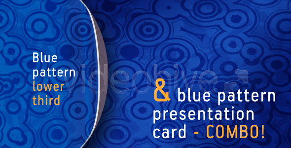 Blue pattern LOWER THIRD & PRESENTATION CARD-combo VideoHive Motion Graphic  Interface Effects  Retro 120061