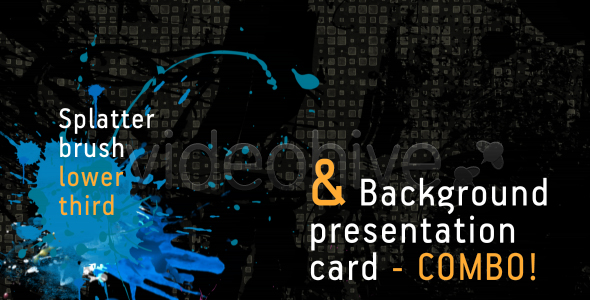 Splatter brush LOWER THIRD & background card COMBO VideoHive Motion Graphic  Lower Third  Grunge 120194