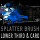 Splatter brush LOWER THIRD & background card COMBO - VideoHive Item for Sale
