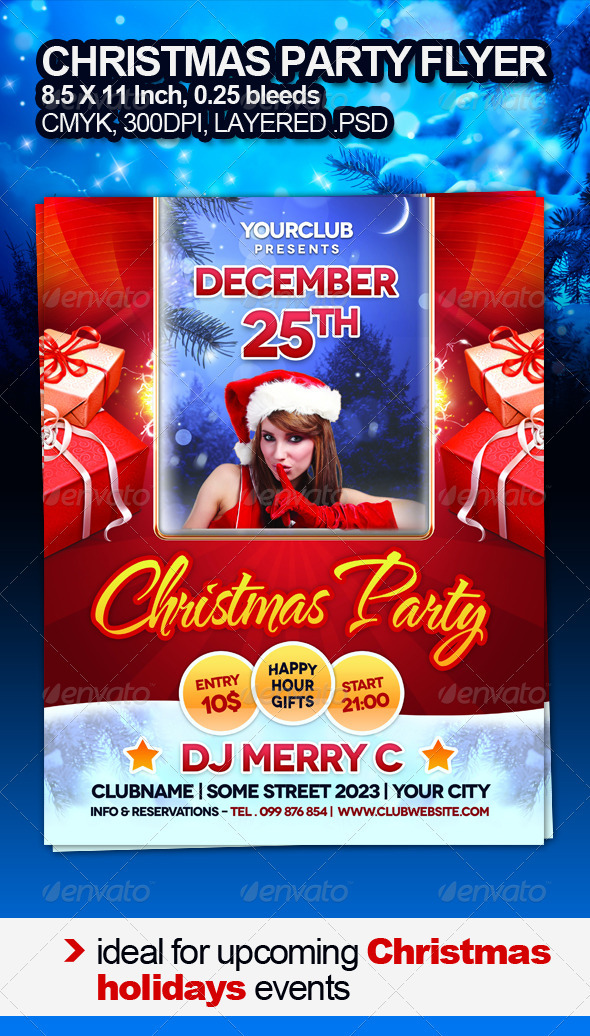 Christmas Party Flyer - Clubs &amp; Parties Events