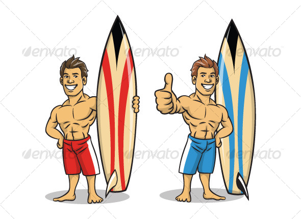 Surfer boy - People Characters