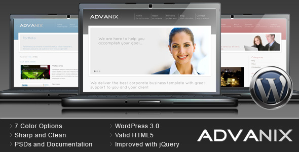 Advanix - Corporate Business WordPress Theme