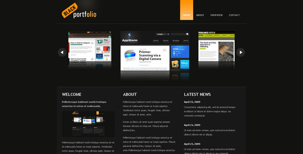 BLACK PORTFOLIO - Portfolio Creative
