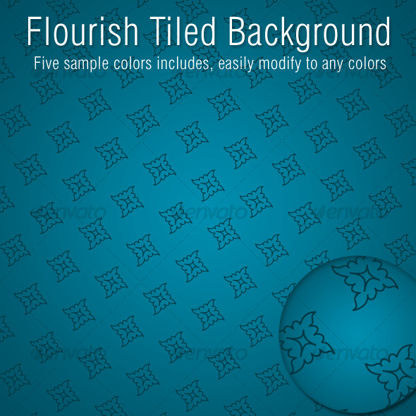Flourish Tiled Background - Miscellaneous Textures / Fills / Patterns