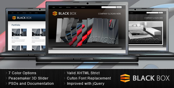 Black Box - Portfolio and Business HTML Template
