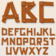 Vector Wooden Alphabet - GraphicRiver Item for Sale