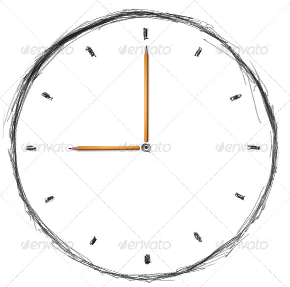 sketch clock - Stock Photo - Images