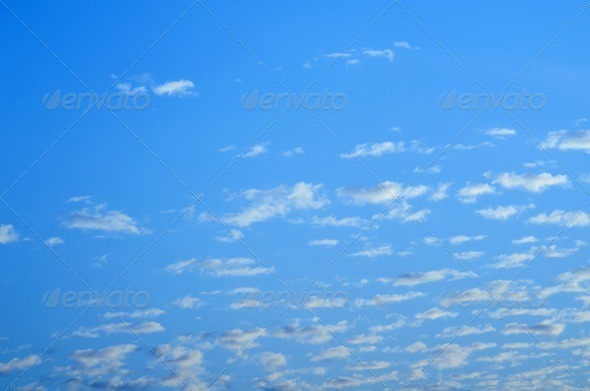 Blue sky with clouds - Stock Photo - Images