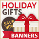 Holiday Gifts Web Banners-Graphicriver中文最全的素材分享平台