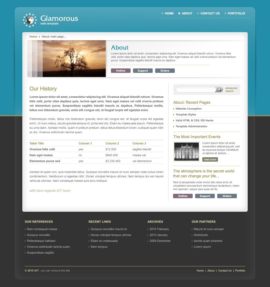 Glamorous Universal Wordpress Template