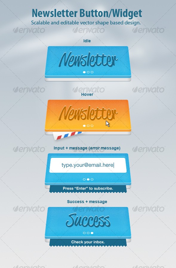 GraphicRiver Newsletter Widget Button 121875