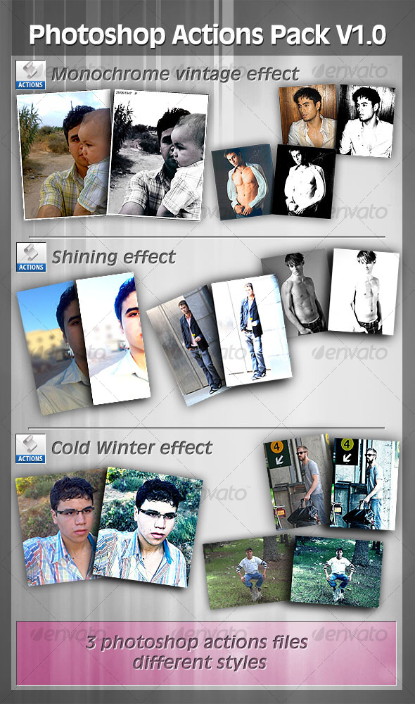 Add-ons : Photoshop Actions Pack V1.0 GraphicRiver 121939 - Photoshop Actions Photo Effects