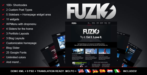 Fuzio Agency / Business Wordpress Theme