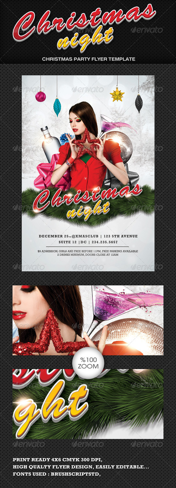 Christmas Night Flyer - Clubs &amp; Parties Events