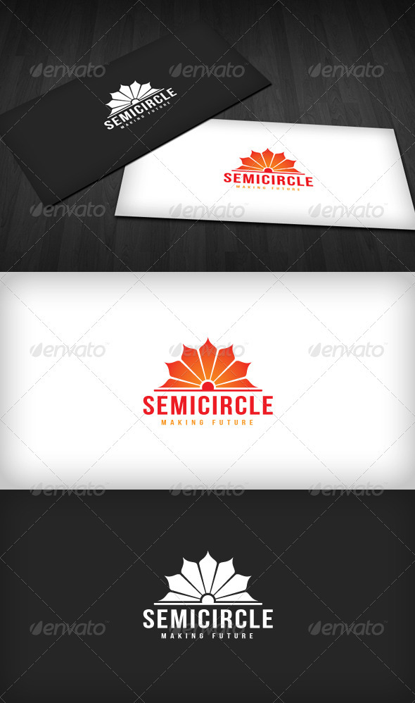 Semicircle Logo - Vector Abstract