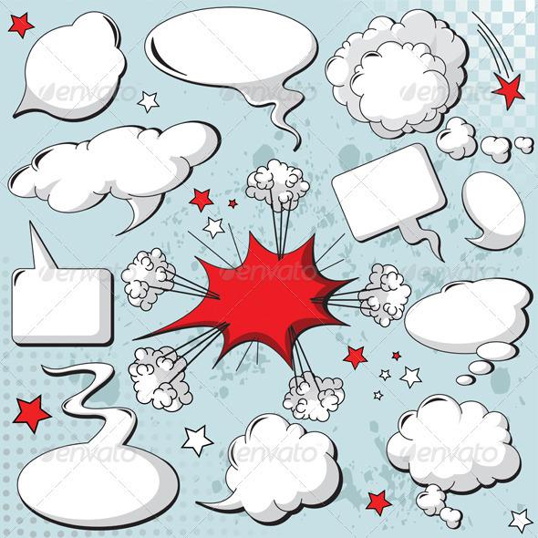 GraphicRiver Speech bubbles 977890