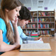 Studying at library - VideoHive Item for Sale