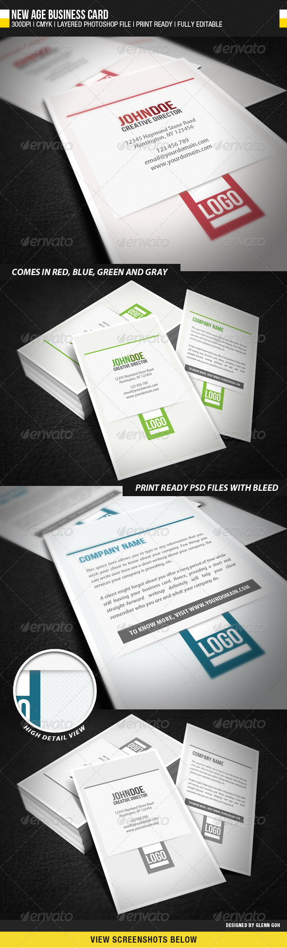 New Age Business Card - Creative Business Cards