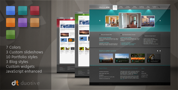 ThemeForest Duotive ONE General Purpose Wordpress Theme 121437