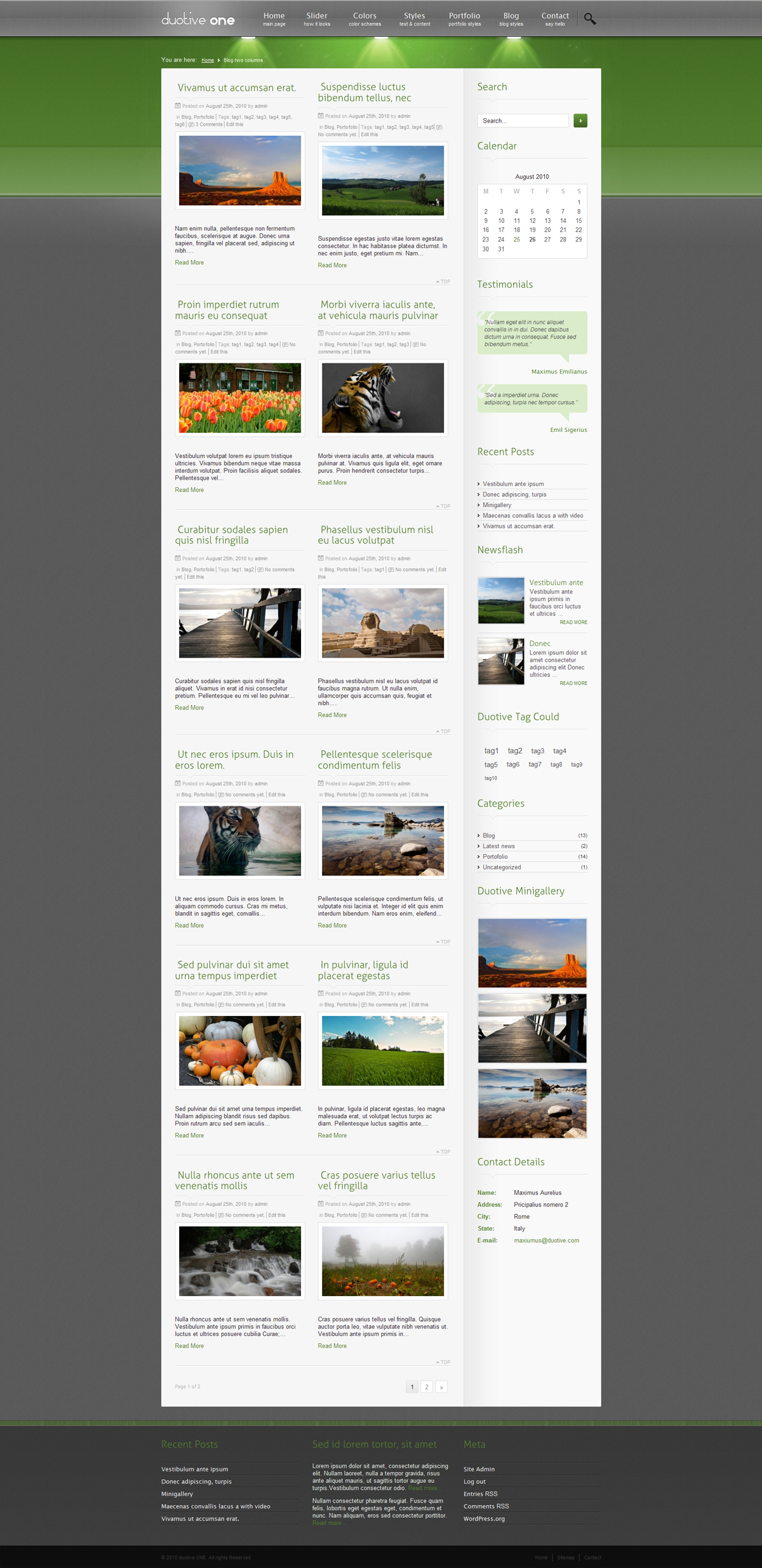 Duotive ONE General Purpose Wordpress Theme