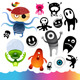 Monster Character Elements - GraphicRiver Item for Sale