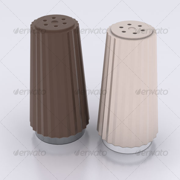 3DOcean Salt & Pepper Shakers 122734