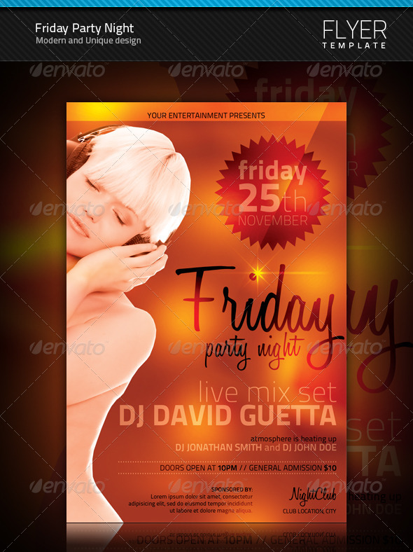 GraphicRiver Friday Party Night Flyer 941040