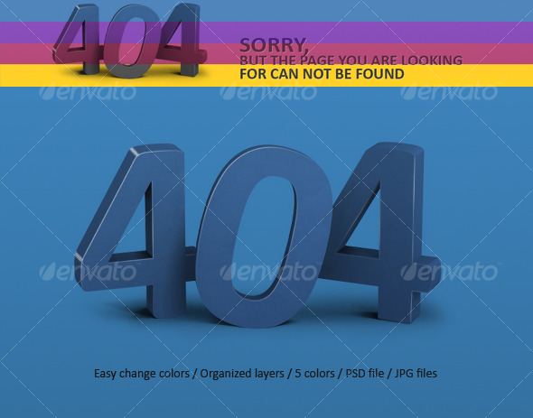 GraphicRiver Error Page 404 123003