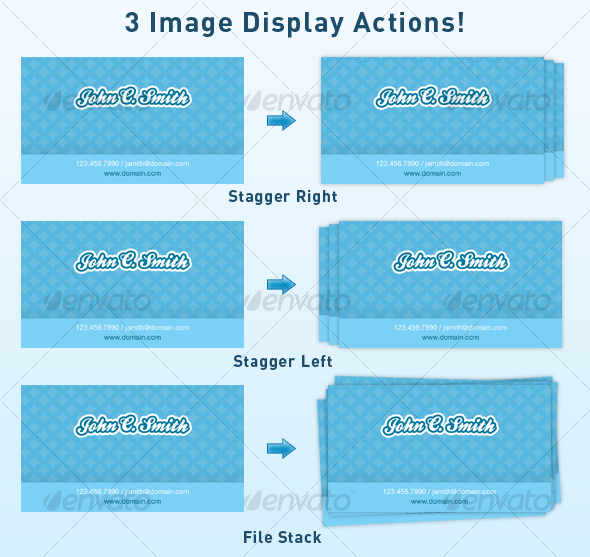 Graphic River Image Stack / Display Actions Add-ons -  Photoshop  Actions  Utilities 40421